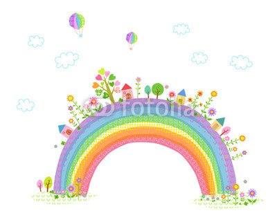 【インテリアシール】虹の国 壁シール