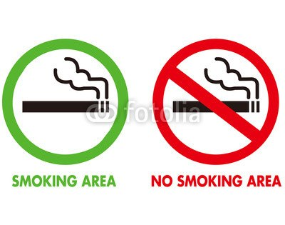 【インテリアシール】禁煙・喫煙サイン ウォールステッカー