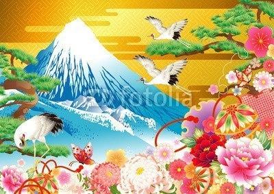 【インテリアシール】豪華絢爛な富士山 ウォールステッカー