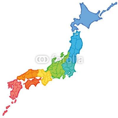 【インテリアシール】筆で書いた日本地図 ウォールステッカー