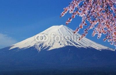 【インテリアシール】青空にそびえる富士と桜 ウォールステッカー