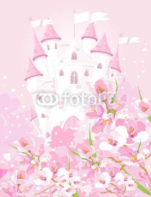 壁紙 ファンタジックなお城 はがせる壁紙