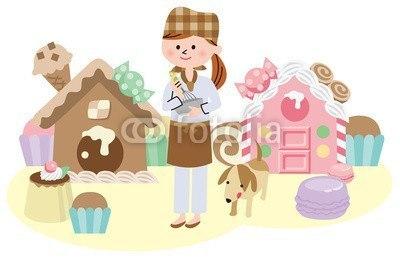 【壁紙】お菓子の国 はがせる壁紙