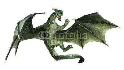 【インテリアシール】迫力あるドラゴン ウォールステッカー