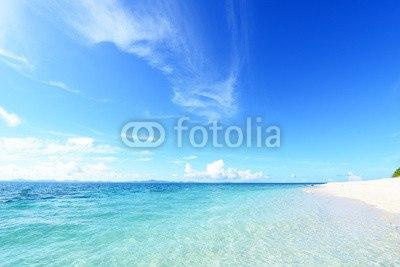 【壁紙】沖縄の海と夏空 はがせる壁紙
