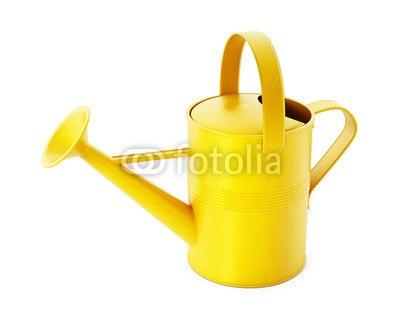 【インテリアシール】黄色いじょうろ ウォールステッカー