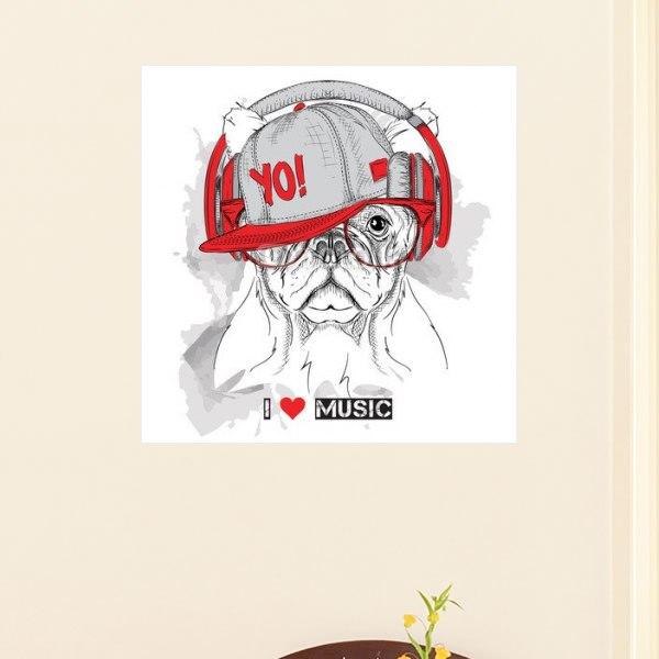 【インテリアポスター】ミュージック&ドッグポスター
