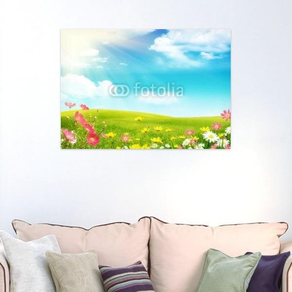 【インテリアポスター】春の草原