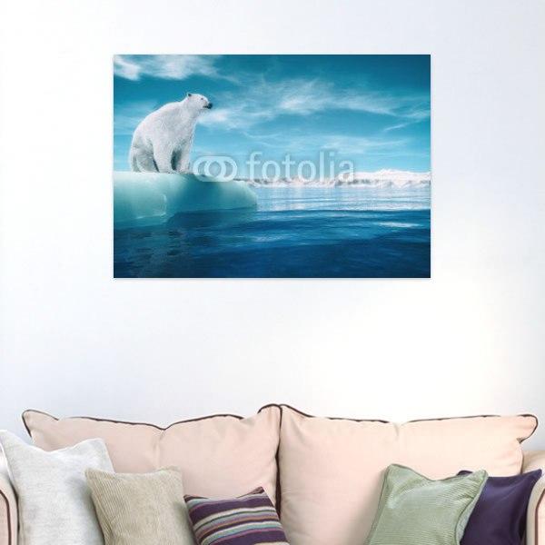 【インテリアポスター】流氷と白クマ