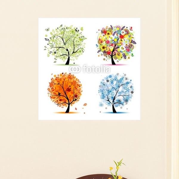 【インテリアポスター】四季の木