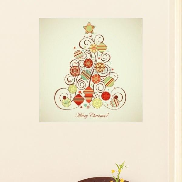 【インテリアポスター】レトロクリスマスツリー