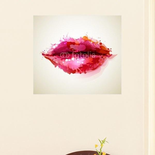 【インテリアポスター】女性の唇
