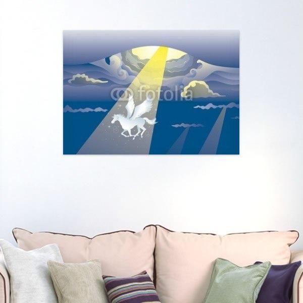 【インテリアポスター】天から舞い降りたペガサス