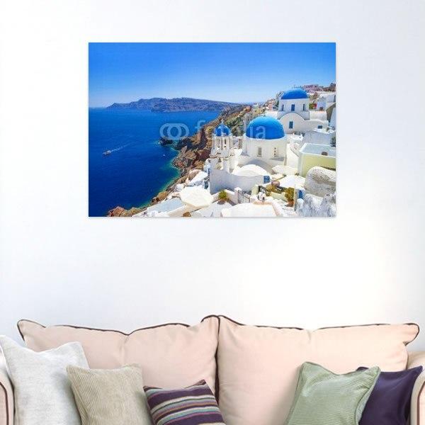 【インテリアポスター】ギリシャ サントリーニ島の風景