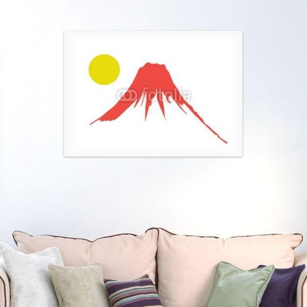 【インテリアポスター】赤富士