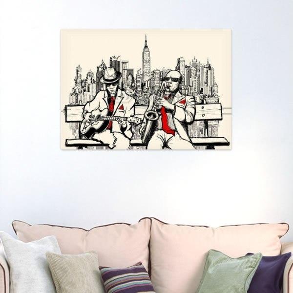 【インテリアポスター】ニューヨークのジャズミュージシャン
