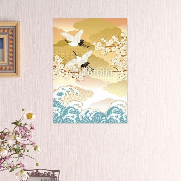 【インテリアポスター】飛び立つ鶴