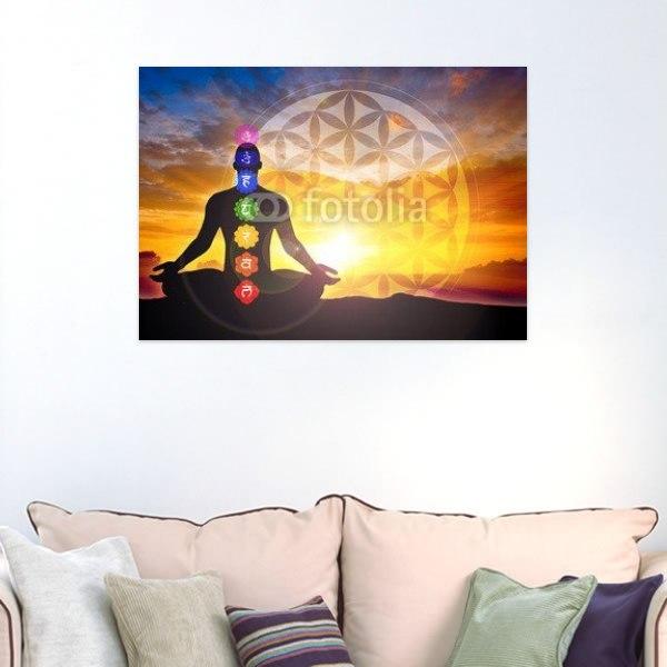 【インテリアポスター】チャクラと瞑想