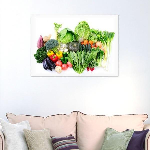 【インテリアポスター】とれたて新鮮野菜
