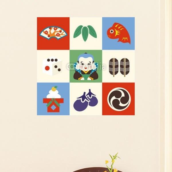 【インテリアポスター】縁起物セット2