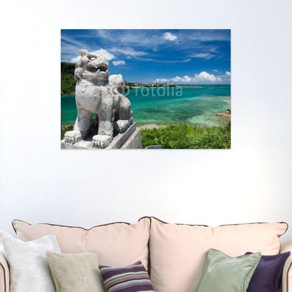 【インテリアポスター】沖縄の海とシーサー