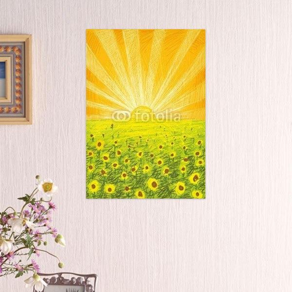 【インテリアポスター】太陽とひまわり