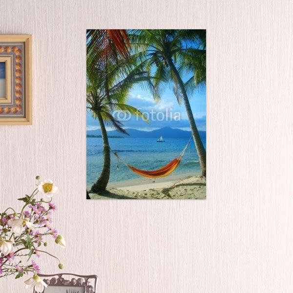 【インテリアポスター】浜辺のハンモック
