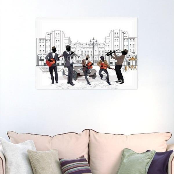 【インテリアポスター】ストリートミュージシャン