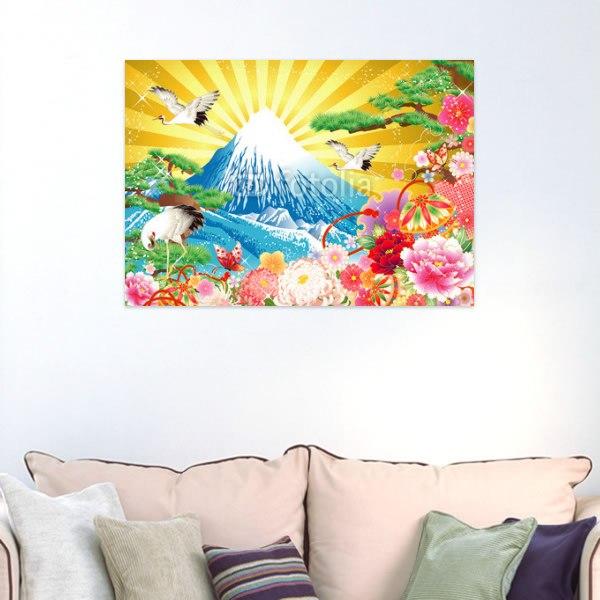 【インテリアポスター】輝く和風富士