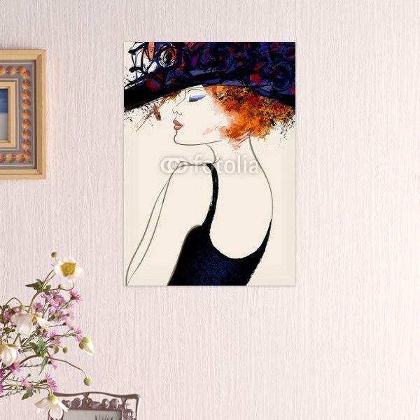 【インテリアポスター】ファッションモデルの横顔ポスター