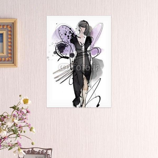 【インテリアポスター】ブラックドレスポスター