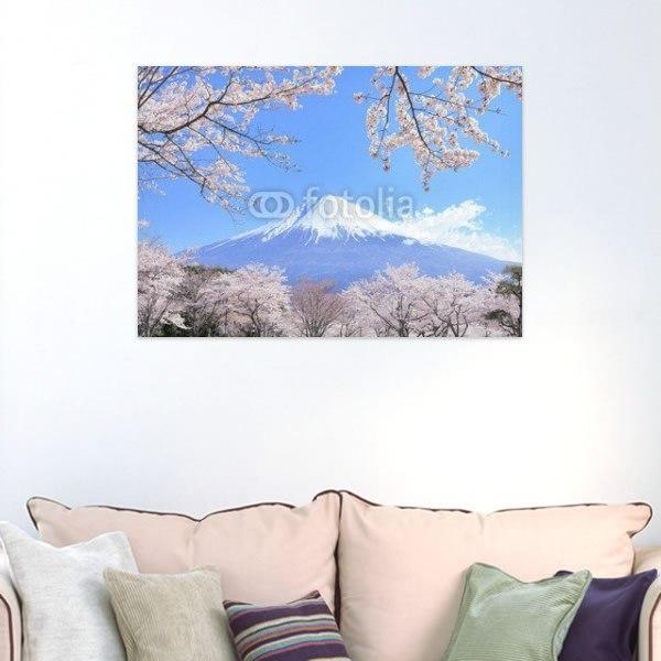【インテリアポスター】桜富士