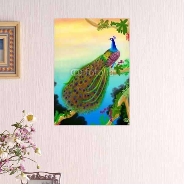 【インテリアポスター】ジャングルのクジャクポスター