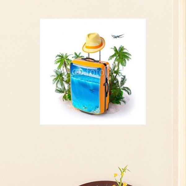 【インテリアポスター】トロピカルな夏旅行ポスター