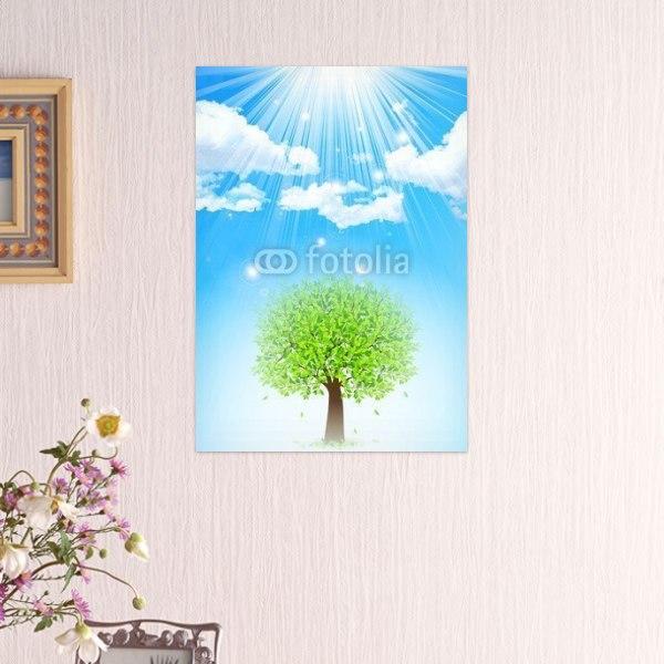 【インテリアポスター】新緑と青空