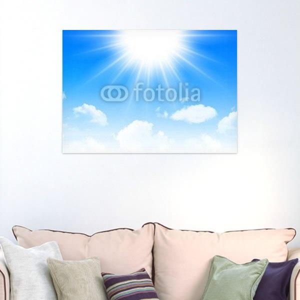 【インテリアポスター】夏空と輝く太陽