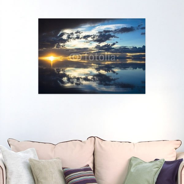 【インテリアポスター】ウユニ塩湖の落日