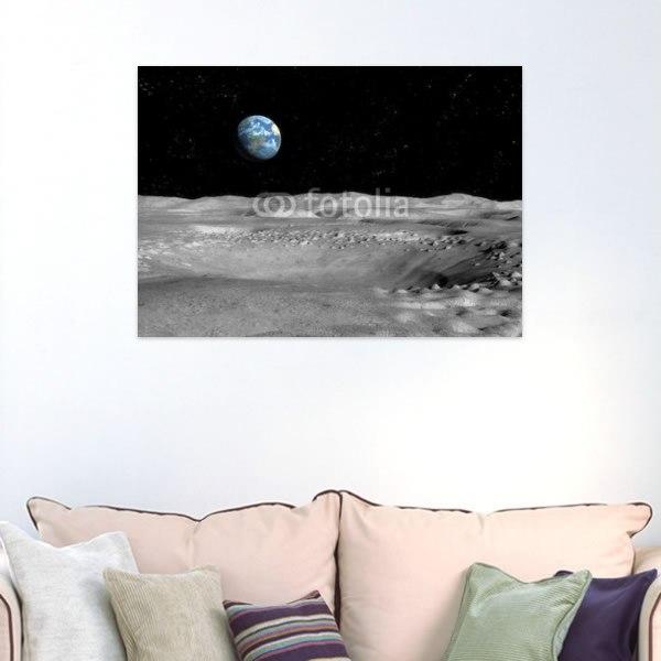 【インテリアポスター】月から見る僕の地球