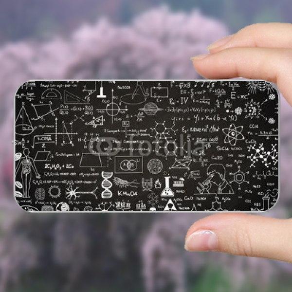 【スキンシール】電子タバコ EMILI 黒板に書かれた化学式