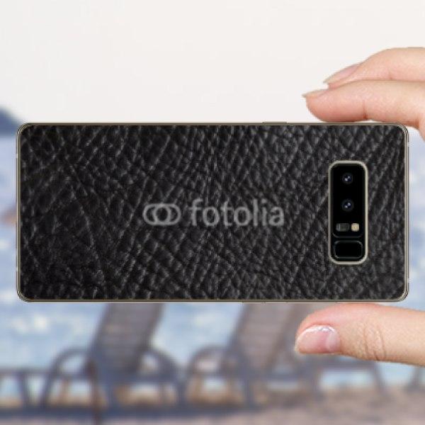【スキンシール】docomo Galaxy Note8 SC-01K 黒の牛革風テクスチャ