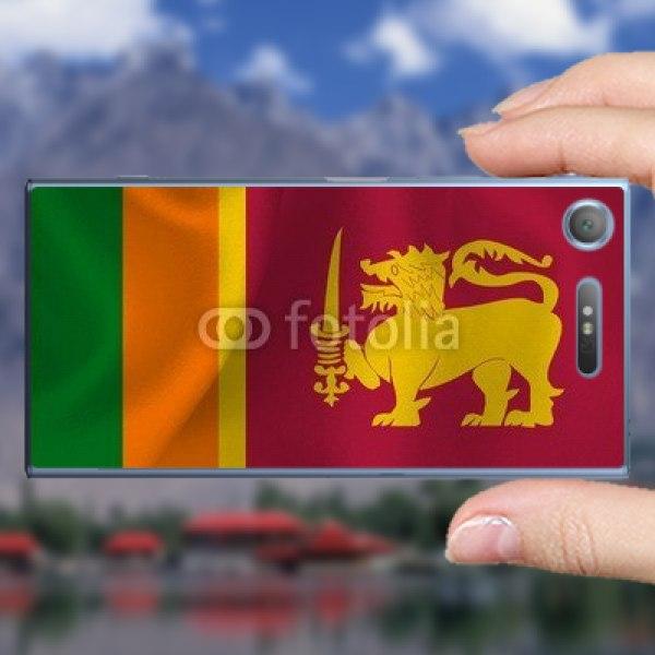 【スキンシール】docomo Xperia XZ1 SO-01K スリランカの国旗