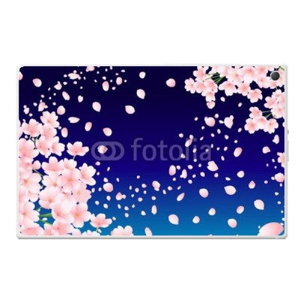 【スキンシール】docomo Xperia Z2 Tablet SO-05F 夜桜 スキンシール