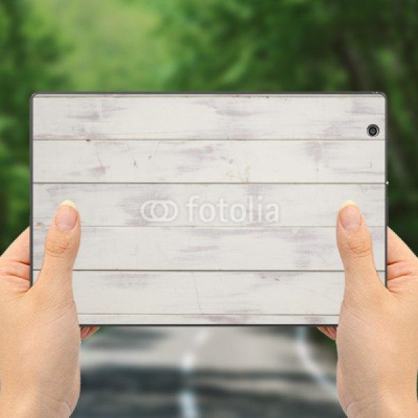 【スキンシール】docomo Xperia Z4 Tablet SO-05G ベージュの木板風