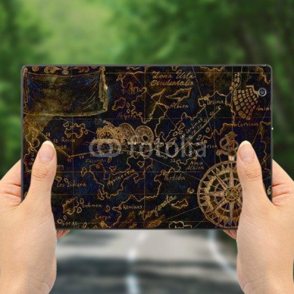 【スキンシール】docomo Xperia Z4 Tablet SO-05G 黒いお宝の地図