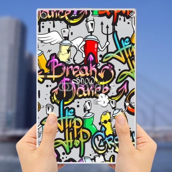 【スキンシール】au Xperia Z2 Tablet SOT21 ダンス グラフィティ