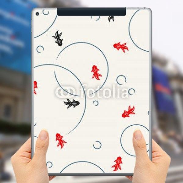 【スキンシール】iPad Pro 12.9inch Cellular 和風金魚