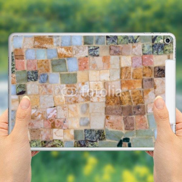 【スキンシール】iPad Pro 9.7inch Cellular カラフルモザイク柄風