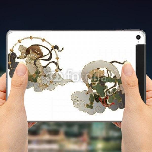 【スキンシール】iPad mini 4 Cellular 雲上の風神雷神