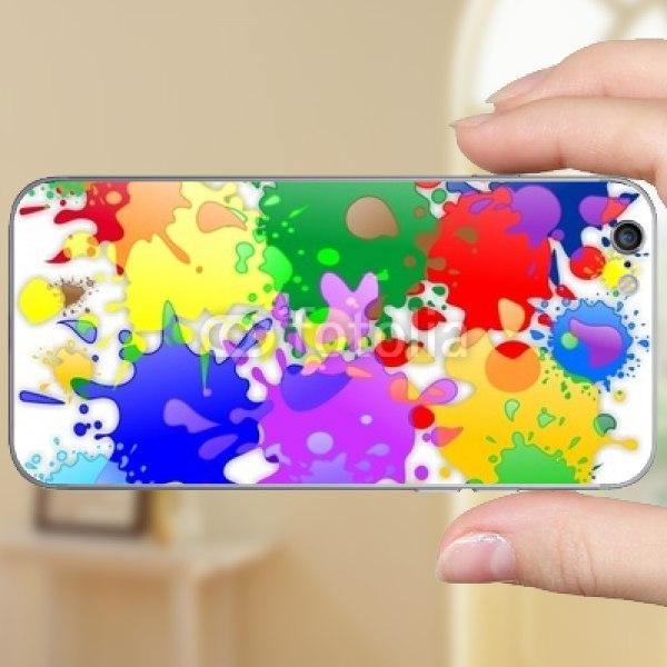 【スキンシール】iPhone 6s カラフルスプラッシュ