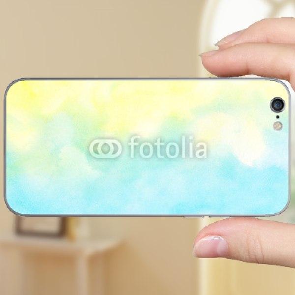 【スキンシール】iPhone 6s 黄色と青のグラデーション